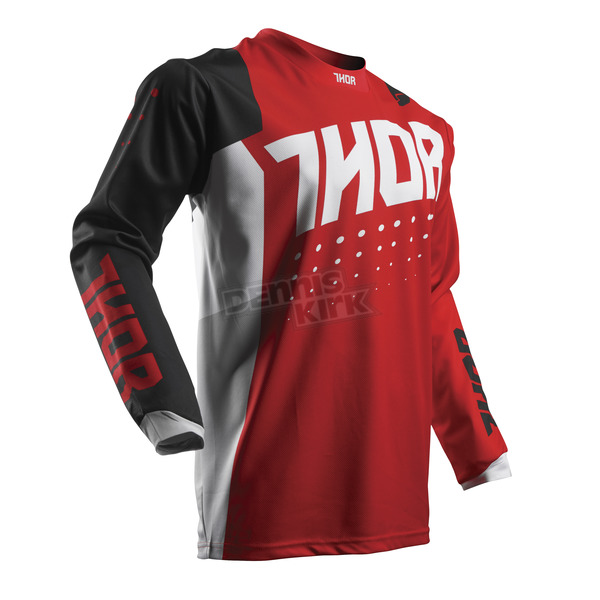 Thor Youth Red/Black Pulse Aktiv Jersey - 2912-1404
