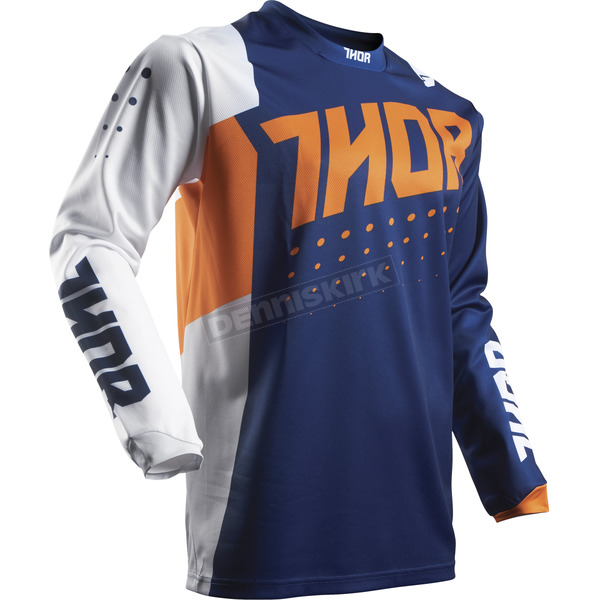 Thor Youth Orange/Navy Pulse Aktiv Jersey - 2912-1410
