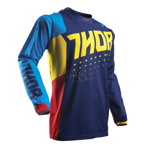 Thor Youth Multi Color Pulse Aktiv Jersey - 2912-1414