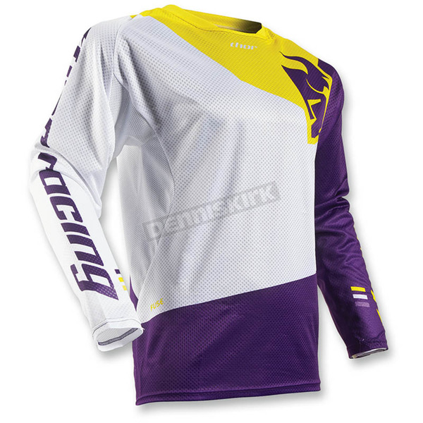 Thor White/Purple Fuse Air Pinon Jersey - 2910-3975