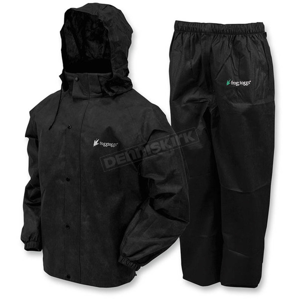Frogg Toggs Black All Sport Rain Suit - AS1310-012X