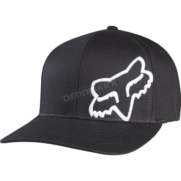 Fox Black/White Flex 45 FlexFit Hat - 58379-018-S/M