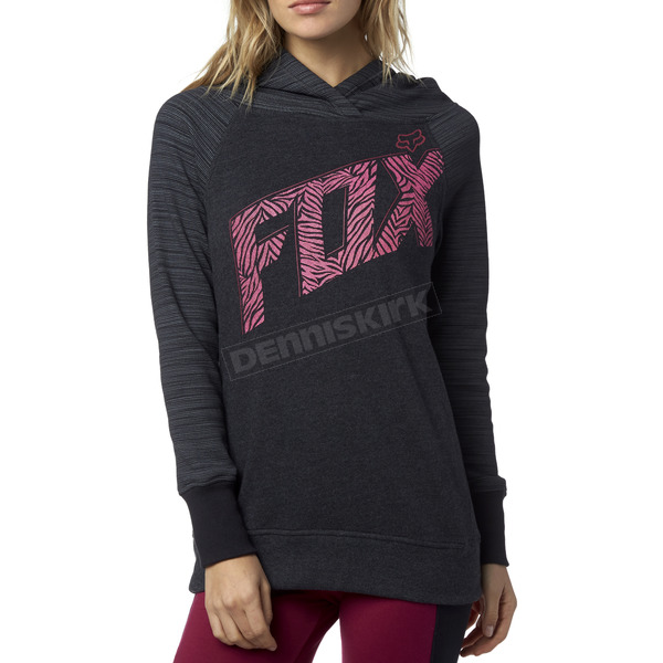 Fox Women's Heather Black Definite Hoody - 17463-243-M
