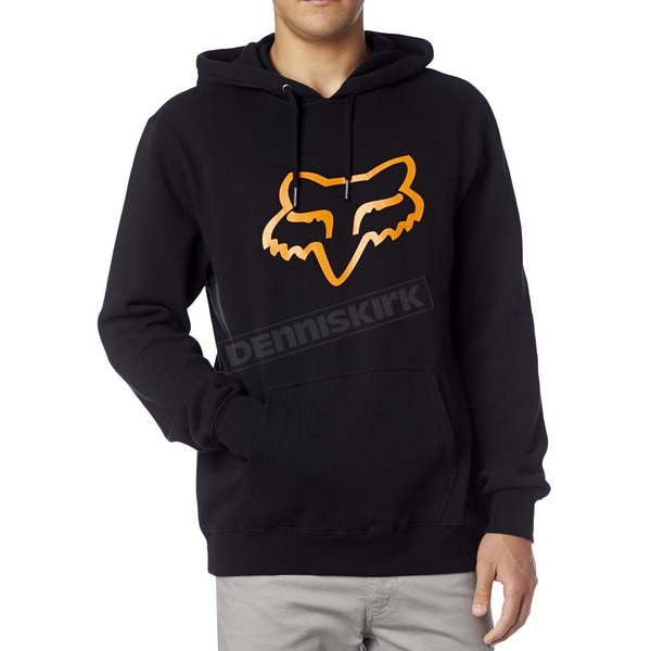 Fox Black/Orange Legacy Fox Head Hoody - 14625-016-S