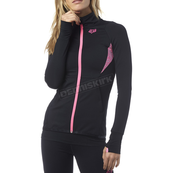 Fox Women's Black Phoenix Track Jacket - 17502-001-S
