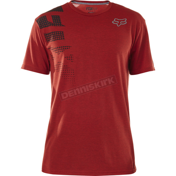 Fox Heather Red Senseless Tech T-Shirt - 18314-383-S