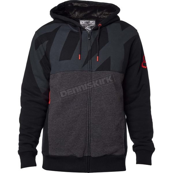 Fox Black Kaos Sasquatch Zip Hoody - 17477-001-M