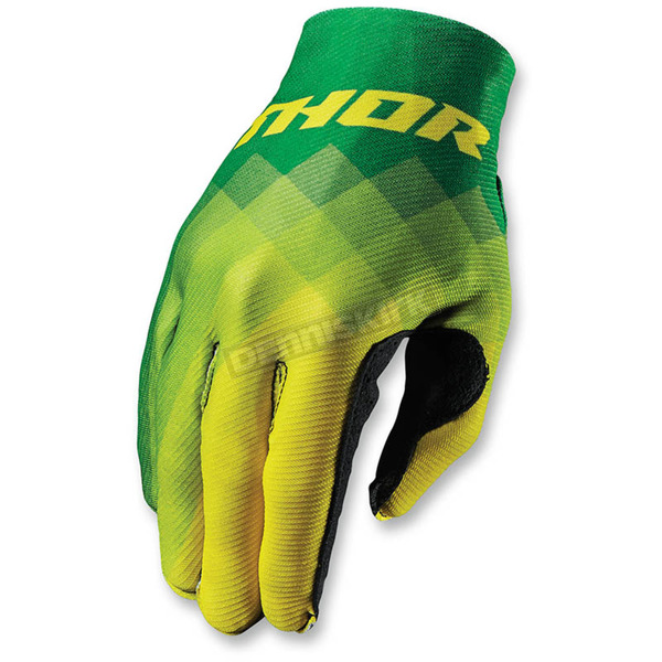 Thor Green Invert Pix Gloves - 3330-3943