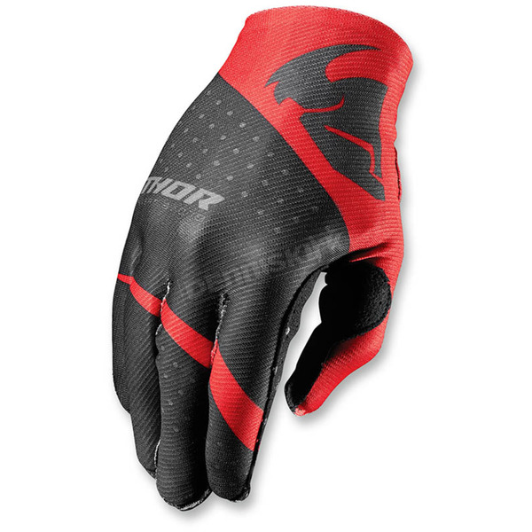 Thor Red Invert Rhythm Gloves - 3330-3951