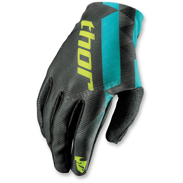 Thor Womens Black/Teal Void Gloves - 3331-0140