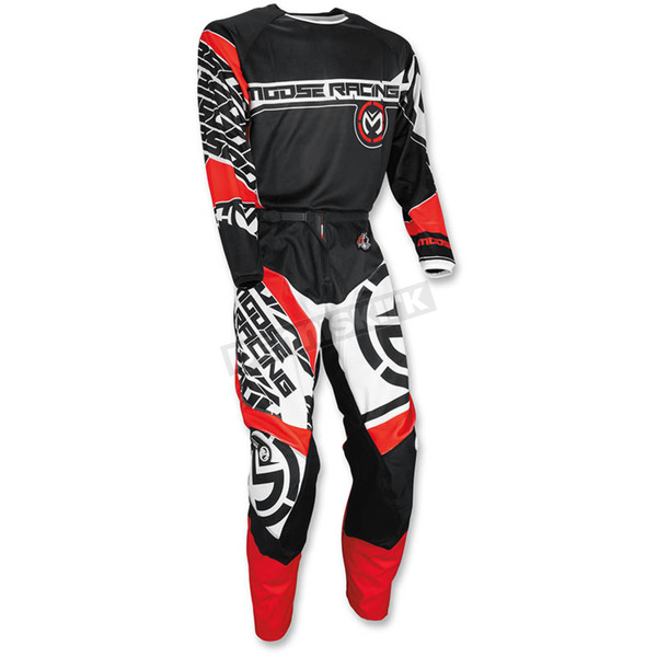 Moose Red/Black Qualifier Jersey - 2910-4096