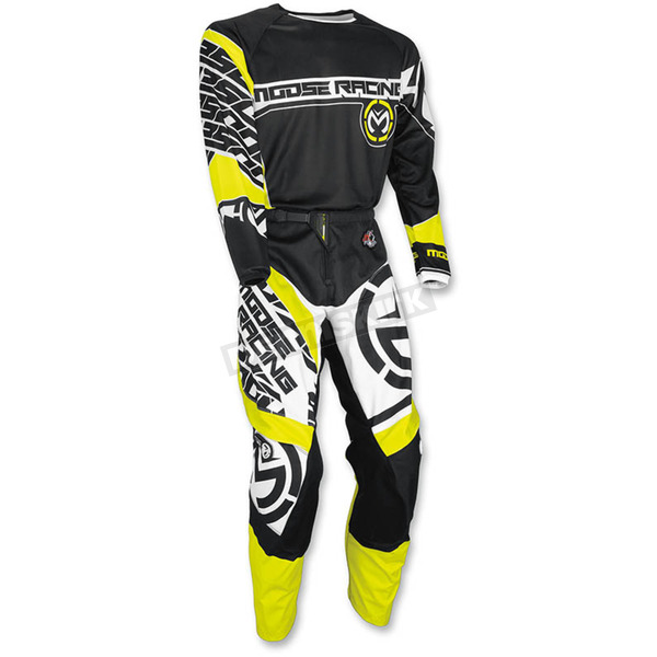 Moose Black/Hi-Viz Qualifier Jersey - 2910-4105
