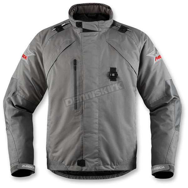 Icon - Raiden Gray Raiden DKR Monochromatic Waterproof Jacket - 2820-3772