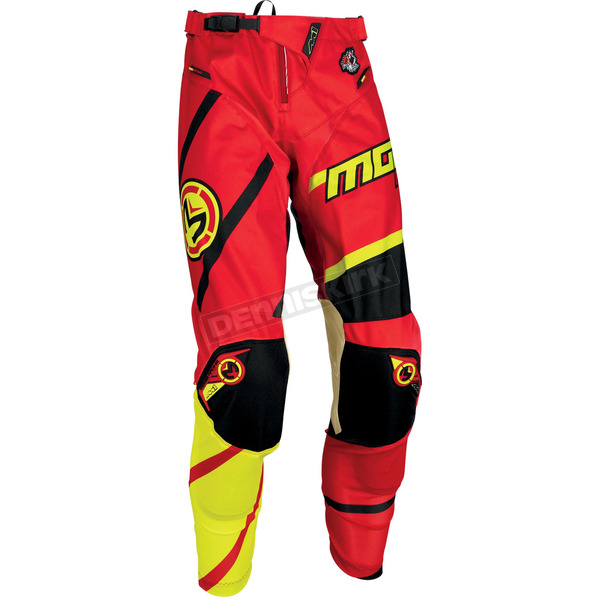 Moose Red/Yellow/Black M1 Pants - 2901-6021