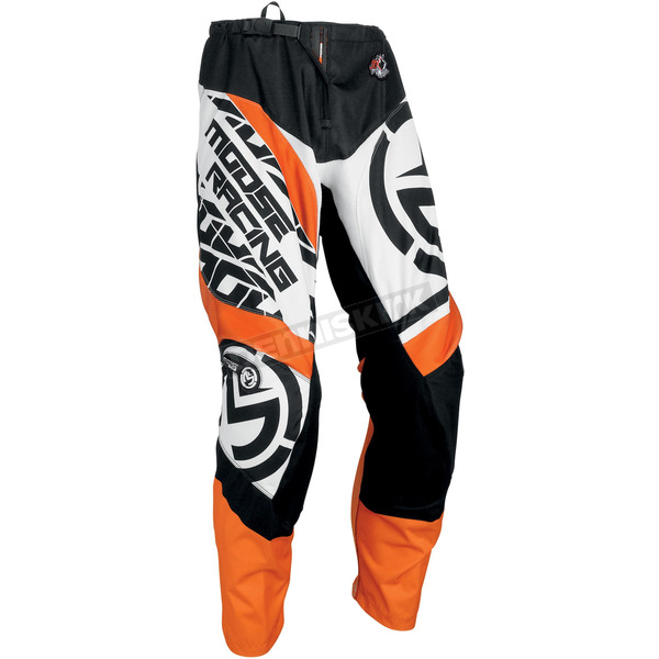Moose Orange/Black Qualifier Pants - 2901-6056