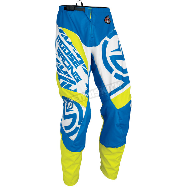 Moose Blue/Hi-Viz Qualifier Pants - 2901-6078