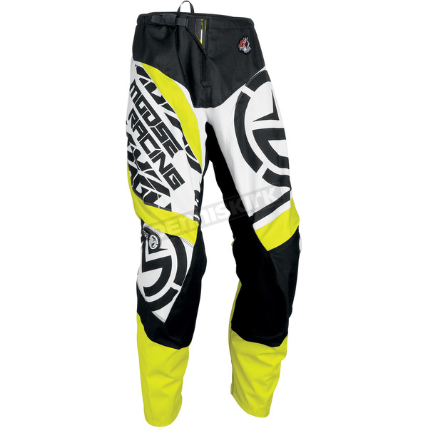Moose Black/Hi-Viz Qualifier Pants - 2901-6114