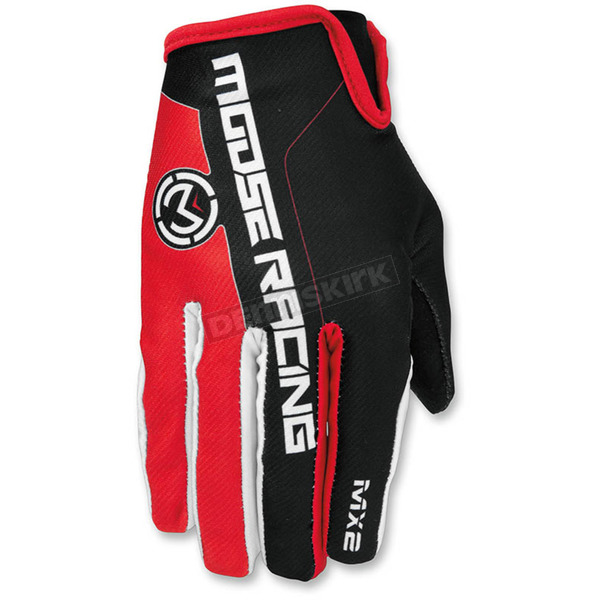 Moose Red/Black MX2 Gloves - 3330-4174