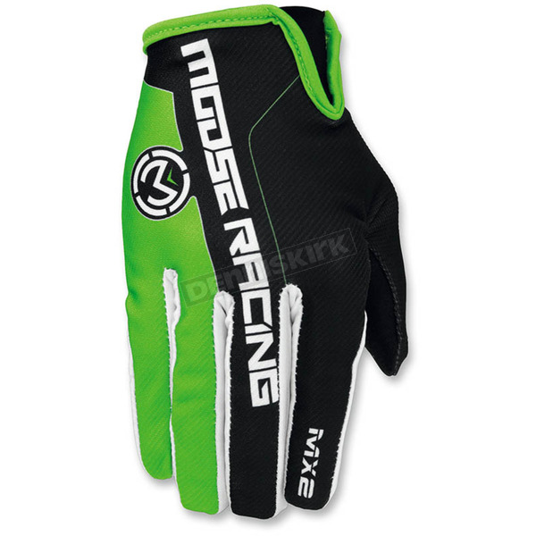 Moose Green/Black MX2 Gloves - 3330-4203