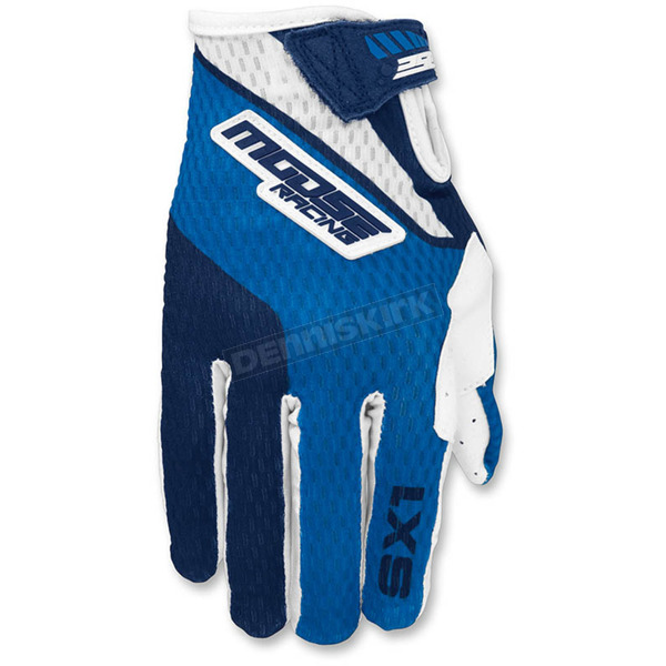 Moose Blue/Navy SX1 Gloves - 3330-4246