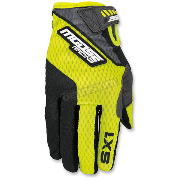 Moose Hi-Viz/Black SX1 Gloves - 3330-4256