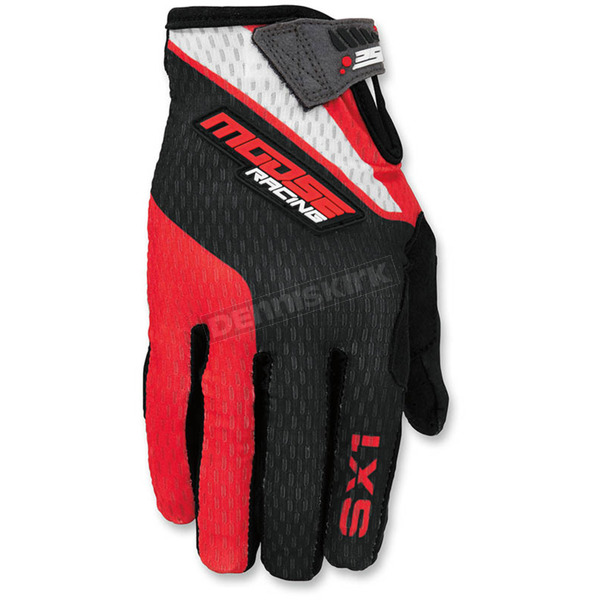 Moose Red/Black SX1 Gloves - 3330-4271