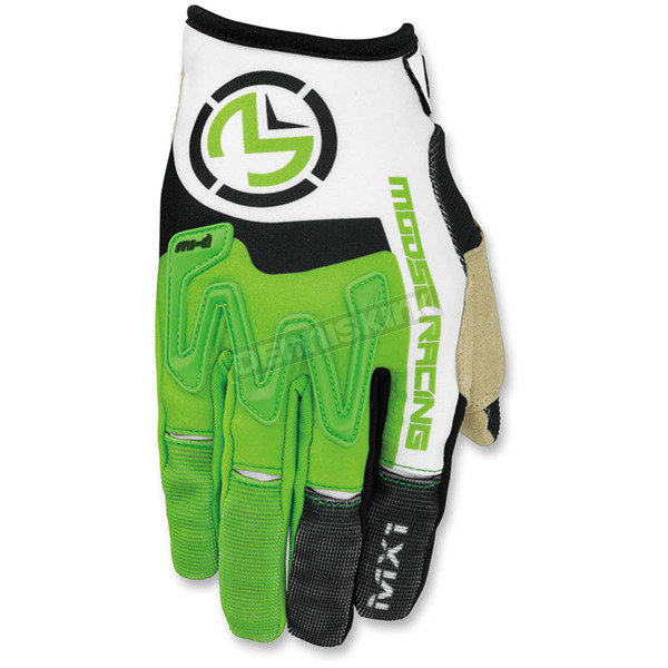 Moose Green/White MX1 Gloves - 3330-4296