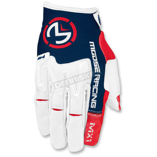 Moose Red/White/Blue MX1 Gloves - 3330-4308