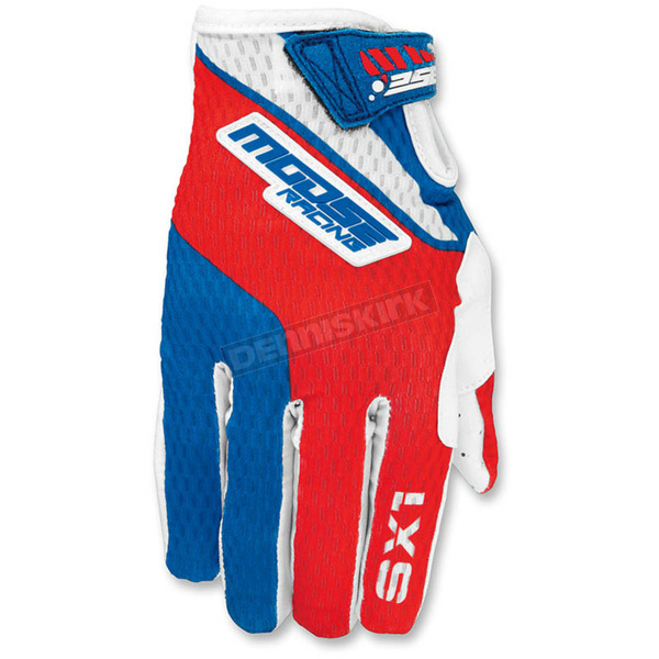 Moose Youth Red/White/Blue SX1 Gloves - 3332-1140