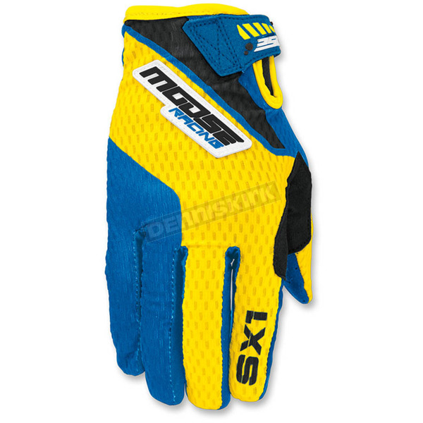 Moose Youth Blue/Yellow SX1 Gloves - 3332-1157