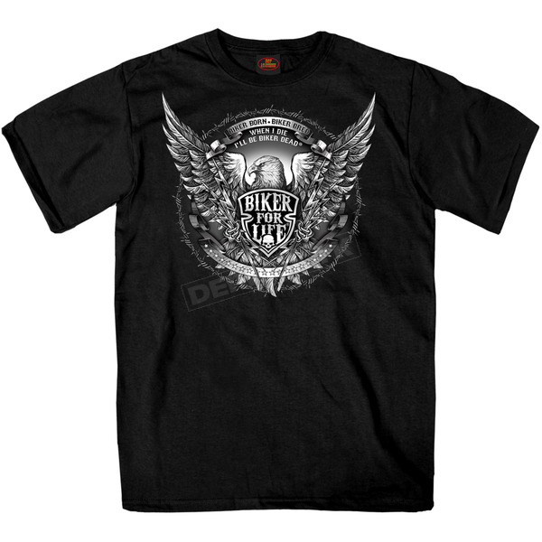 Hot Leathers Black Bold Eagle T-Shirt - GMS1336XXXL