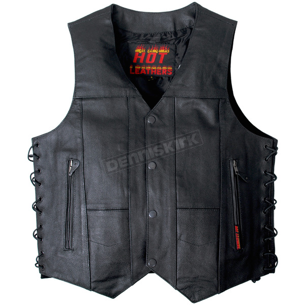 Hot Leathers Ten Pocket Cowhide Leather Vest - VSM1034M