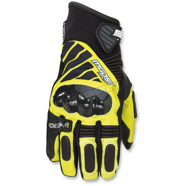 Moose Black/Hi-Viz ADV1 Short Gloves - 3330-4332