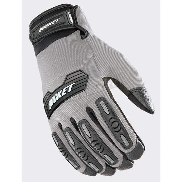 Joe Rocket Silver/Black Velocity 2.0 Gloves - 1610-4506