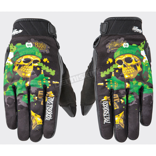 Joe Rocket Black/Green Joe Destroy Gloves - 1612-1406