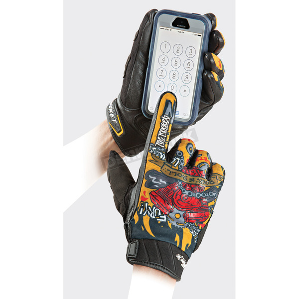 Joe Rocket Black/Orange Artime Joe Piece Maker Gloves - 1614-2006