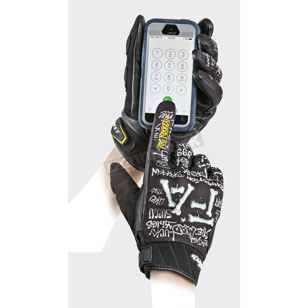 Joe Rocket Black/White Artime Joe Fast Gloves - 1618-2204
