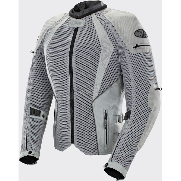 Joe Rocket Women's Silver Cleo Elite Textile Mesh Jacket - 1653-0302