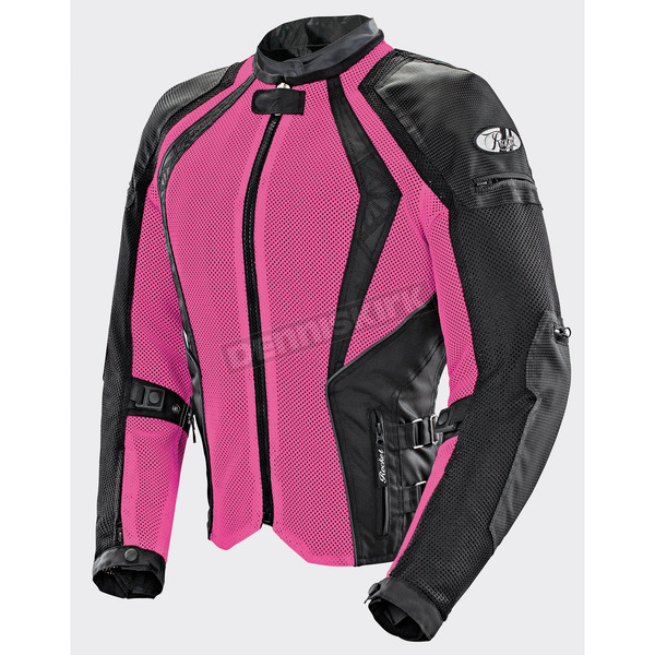 Joe Rocket Women's Pink/Black Cleo Elite Textile Mesh Jacket - 1653-0501