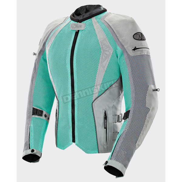 Joe Rocket Women's Mint/Silver Cleo Elite Textile Mesh Jacket - 1653-0703