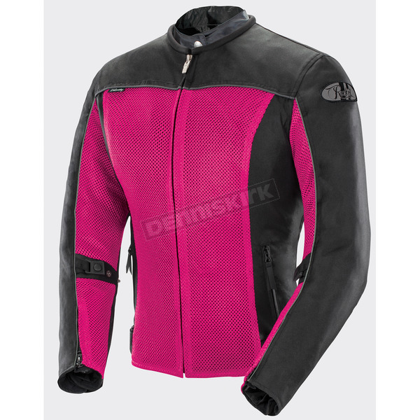 Joe Rocket Women's Pink/Black Velocity Textile Mesh Jacket - 1655-1903