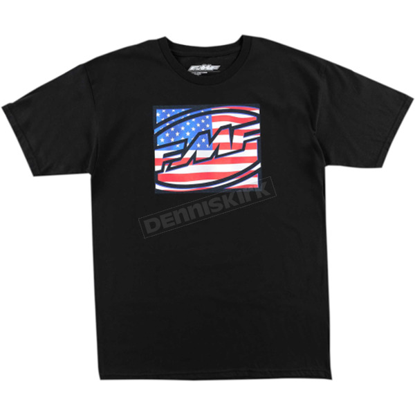 FMF Black Freedom Tee Shirt  - FA6118905BLKXL