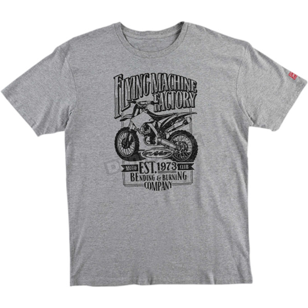 FMF Heather Gray Established Tee Shirt - FA6118915HGRL