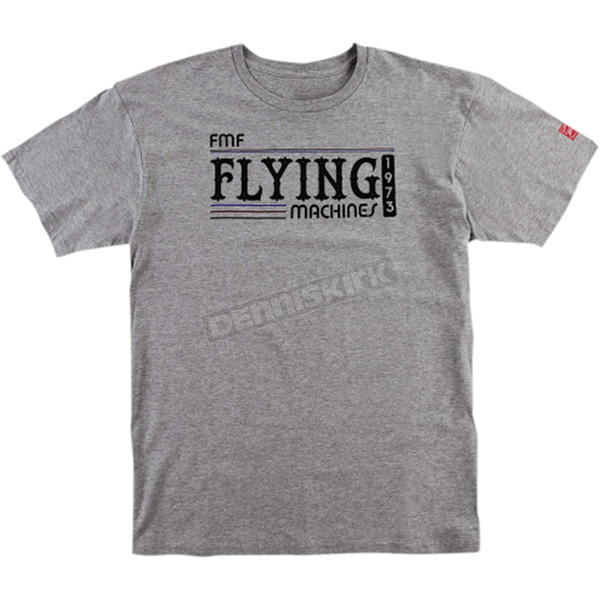 FMF Heather Gray Back in the Day Tee Shirt - FA6118916HGR2X