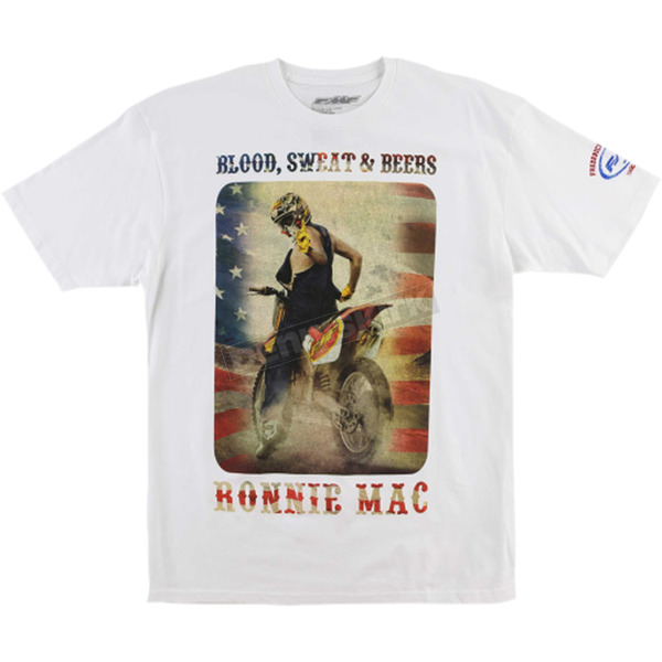 FMF White Ronnie Mac Dirtstar Pro Tee Shirt - FA6118921WHTM