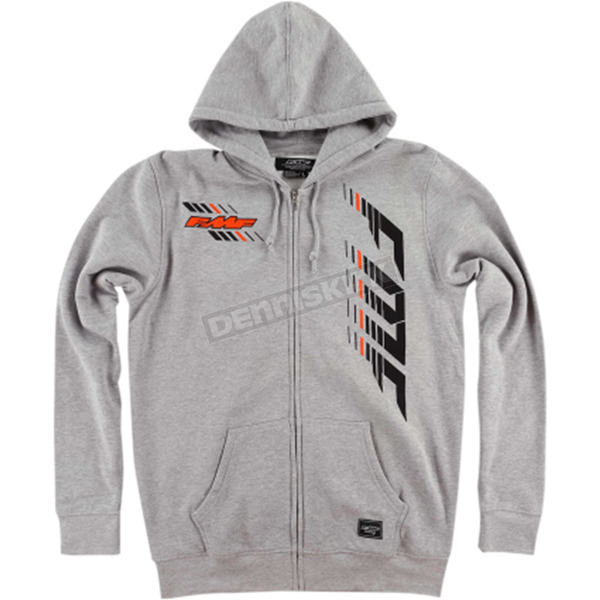 FMF Heather Gray Capital Hooded Zip Up - FA6122903HGR2X