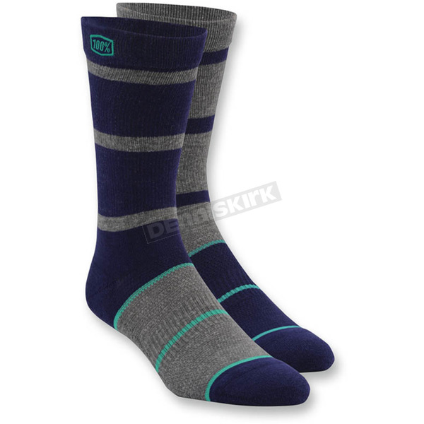 100% Navy Austin Socks - 24004-002-17