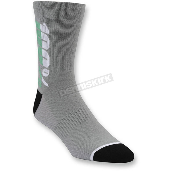 100% Charcoal Rhythm Socks - 24006-007-18