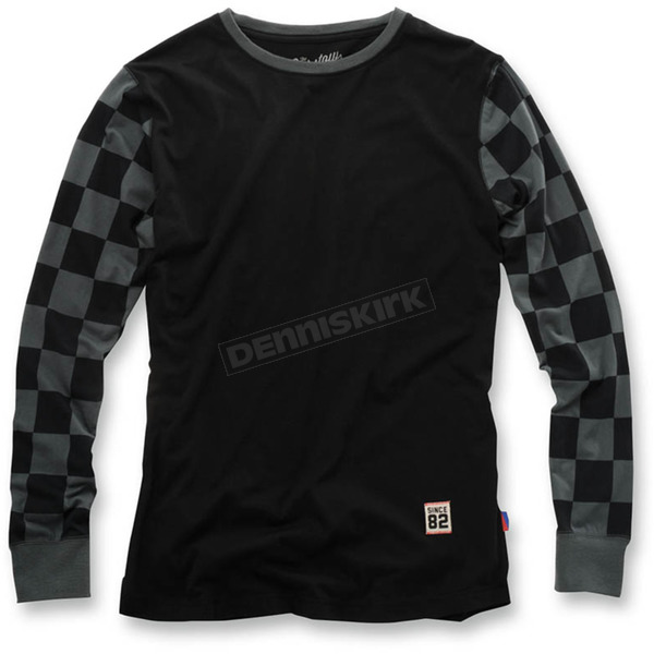 100% Black Checkers Shibuya Long Sleeve Shirt - 33003-001-10