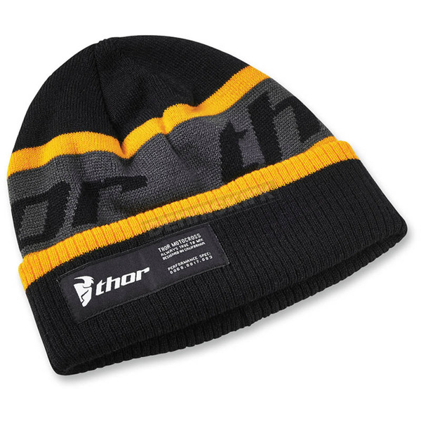Thor Black/Yellow Race Ribbed Beanie - 2501-2510